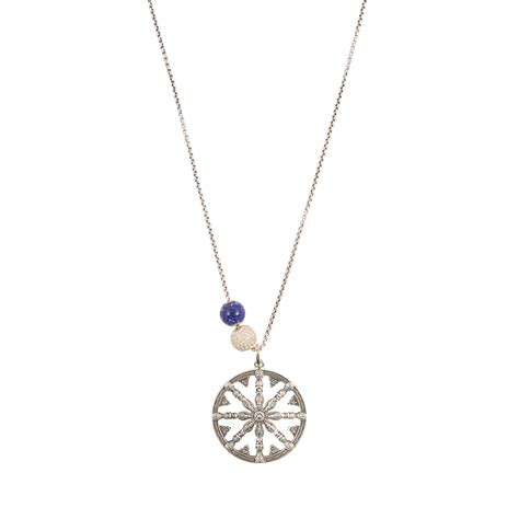 Necklace Silver sabo karma rosace necklace in silver lyst