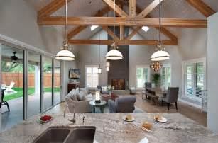 kitchen living room dining room open floor plan cottage style home in british columbia