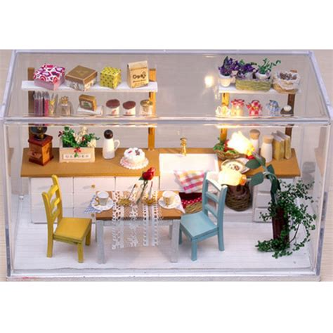 Handcraft Kitchen - hoomeda diy wooden dollhouse miniature dining room model
