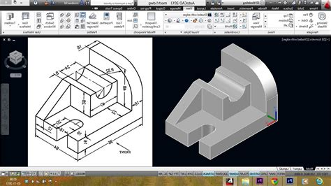 Drawing 3d In Autocad by Autocad Mechanical Drawing 3d Drawing Artistic