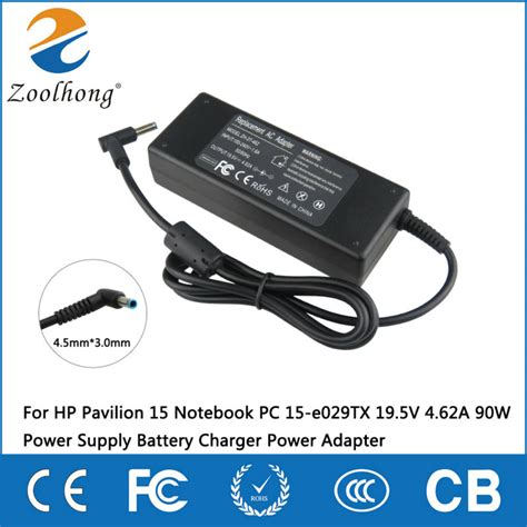 Charger Laptop Hp Original Output 19 5v4 62 Pin Central for hp pavilion 15 notebook pc 15 e029tx 19 5v 4 62a 90w