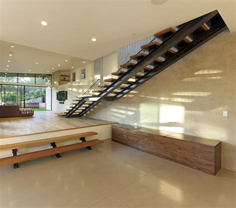 Split Entry Floor Plans mill valley contemporary split level staircase