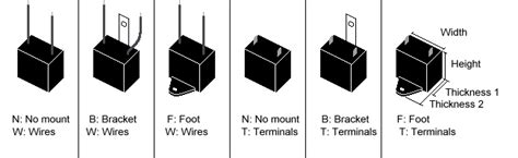 e185116 capacitor box style run capacitors