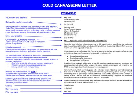 Cold Canvassing Cover Letter by Cold Cover Letter Template
