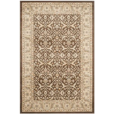 Safavieh Florenteen Rug Safavieh Florenteen Brown Ivory 4 Ft X 6 Ft Area Rug Flr126 2512 4 The Home Depot