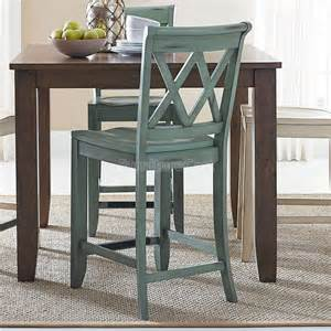vintage counter height dining room set w chair choices weathered grey standard furniture
