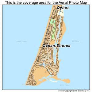 Ocean Shores Washington Map by Aerial Photography Map Of Ocean Shores Wa Washington