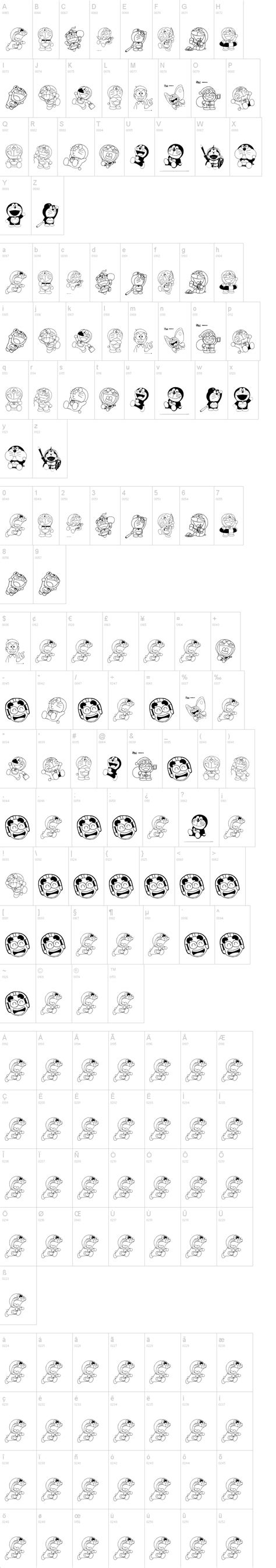 Dafont Doraemon   doraemon slalala font dafont com