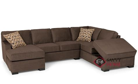 146 fabric chaise sectional by stanton is fully