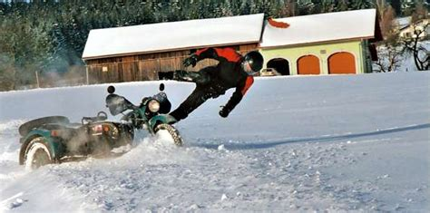 Motorrad Gespann Im Winter by Winterfahrer Motorrad Gespanne