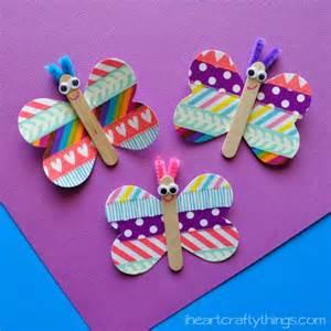 butterfly washi tape craft artsy momma