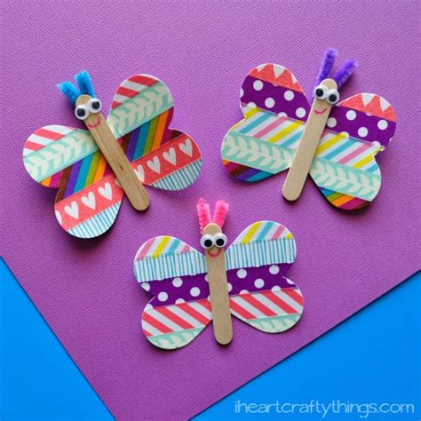 butterfly crafts butterfly washi craft artsy momma