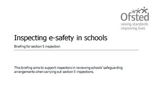 what is a section 5 ofsted inspection e safety support five questions about e safety in your