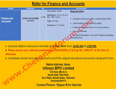 Mba Finance In Chennai Walkin by Freshers Experienced Infosys Walk In B M