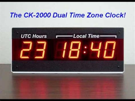 Lu Emergency Led Timezone led dual time zone wall clock 24 hour utc zulu