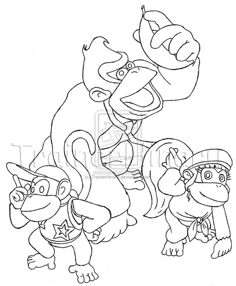diddy kong free coloring pages