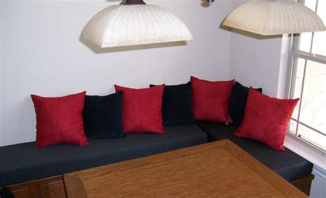 banquette pillows kitchen cushions custom banquette chair cushions add