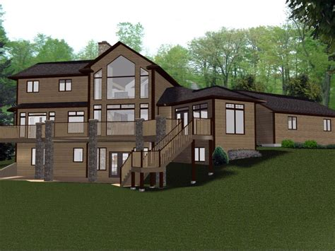 custom lake house plans photos of lake house plans with walkout basement cabin small luxamcc