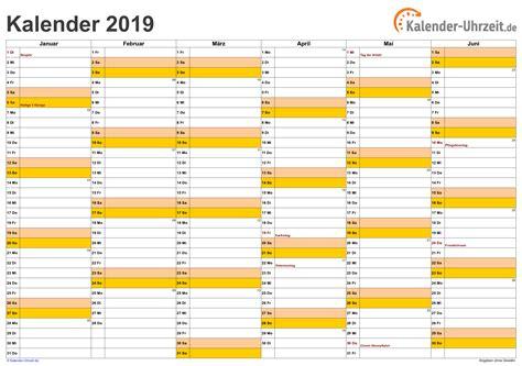 Kalender Online Drucken Monat by Kalender 2019 Zum Ausdrucken Kostenlos