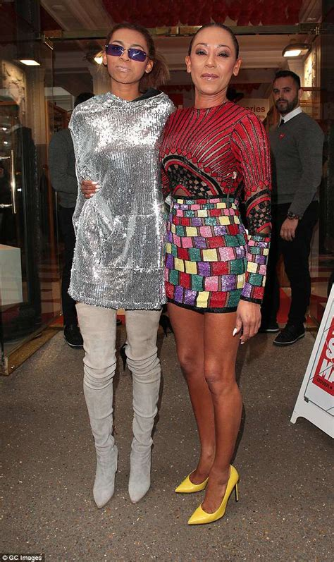 lifestyle m bel mel b dazzles as she with in