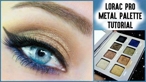 pro tutorial lorac pro metal palette blue tutorial