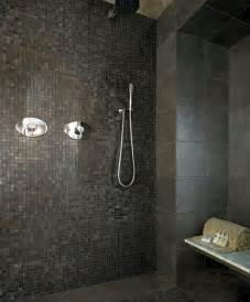 black tile bathroom ideas black shower tile design ideas home interiors