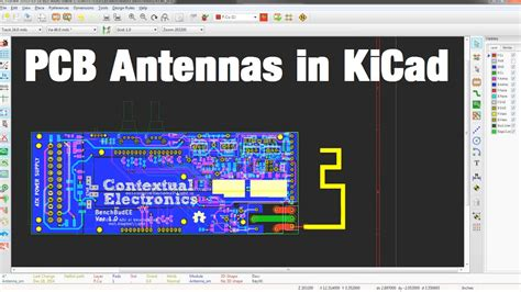 pcb layout software kicad making a pcb antenna in kicad youtube