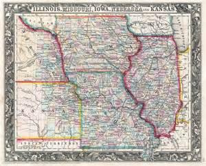Iowa Illinois Map by File 1860 Mitchell Map Of Iowa Missouri Illinois