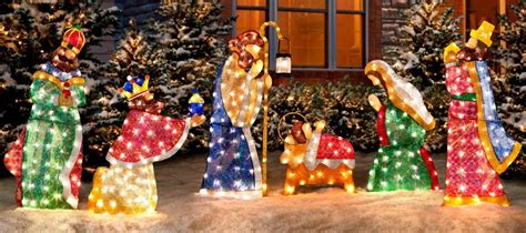 outdoor lighted nativity displays nativity decorations