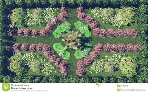 flower garden top view stock illustration image 51436776