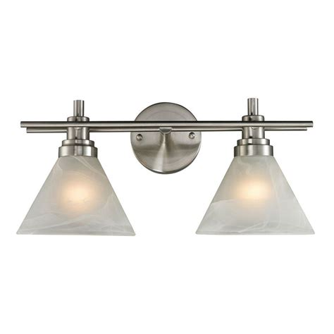 titan lighting pemberton 2 light brushed nickel wall mount