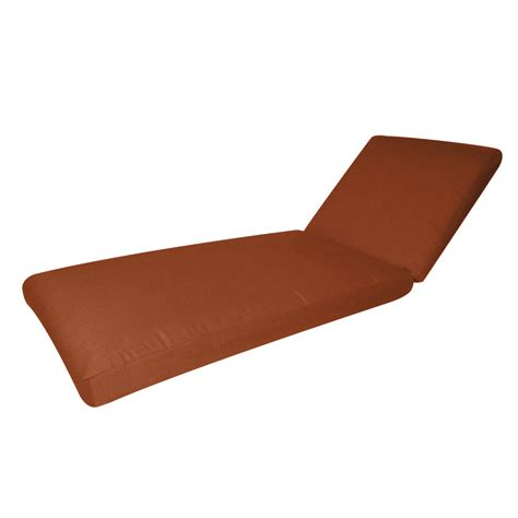 shop sunbrella rust patio chaise lounge cushion at lowes