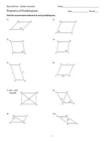 collection of parallelogram properties worksheet sharebrowse