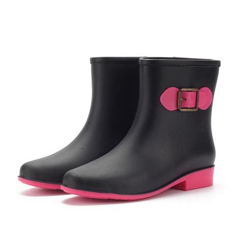 comfortable rain shoes buy 2016 women s non slip martin short ankle rain boots