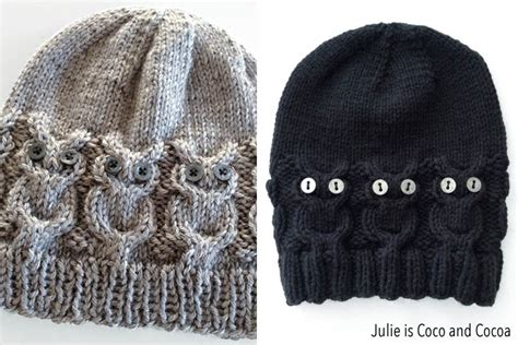 owl hat knitting pattern owl hat knit pattern julie measures