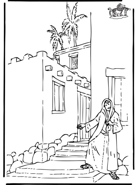 coloring page for rahab coloring home