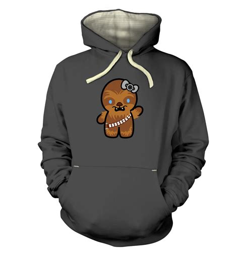 Hoodie Hello hello wookiee hoodie premium somethinggeeky
