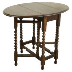 Round Rustic Kitchen Table - small antique english barley twist gateleg table at 1stdibs