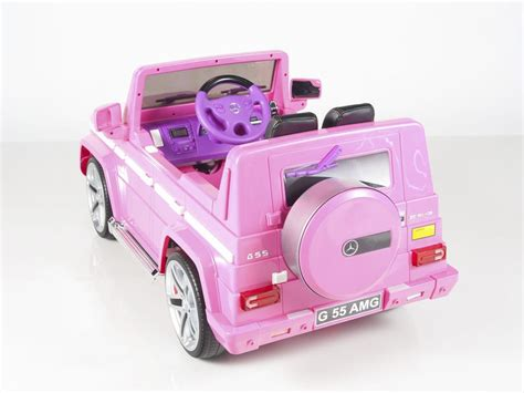 pink g mercedes benz big remote control electric ride on g55 amg