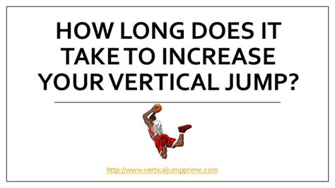 how does it take to increase your vertical jump
