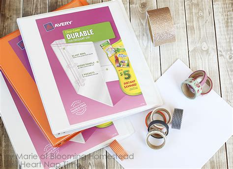 Diy Home Decor Projects On A Budget Diy Binder Covers I Heart Nap Time
