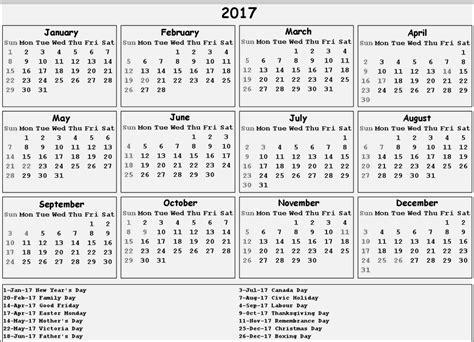 free printable calendar 2017 canada 2017 calendar canada 2018 2017 calendar printable for