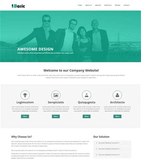 basic free html5 template for multi purpose webthemez