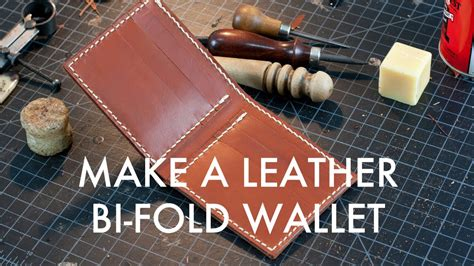 How Do You Make A Wallet Out Of Paper - a leather bi fold wallet build along tutorial