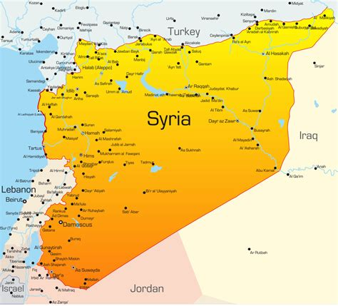 syria on map syria facts map