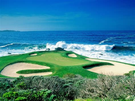 pebble beach golf links ca united states hd wallpaper
