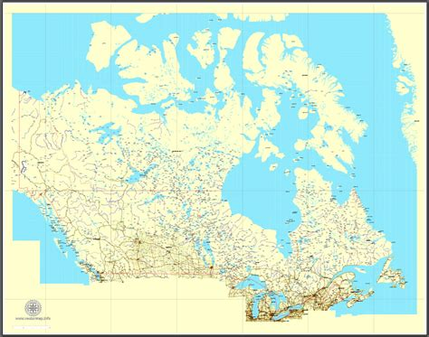 free vector map of usa and canada free vector map canada mainroads cities borders