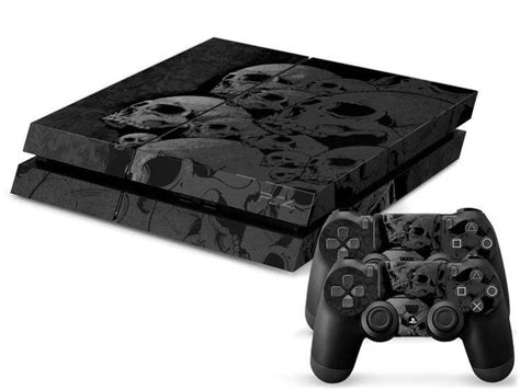 Ps4 Skin Custom Order skull custom sticker for ps4 playstation 4 console 2 free controller skins gadget