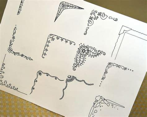 Border Doodles Easy Doodling Ideas