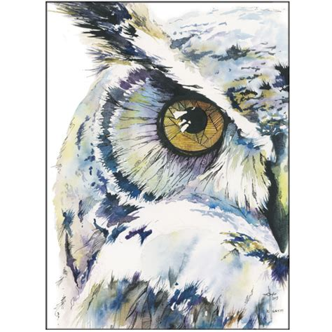 water color owl wise whimsical owl watercolor and ink asmalltowndad s